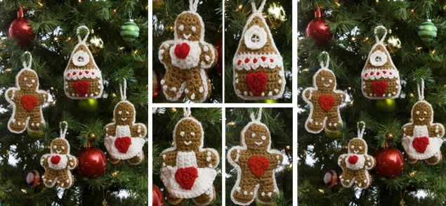 gingerbread crocheted tree ornaments | the crochet space