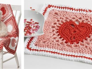 crocheted heart blanket | the crochet space