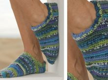 colorful jump crocheted slippers | the crochet space