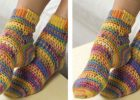 Crocheted Socks With Heart and Sole | the crochet space