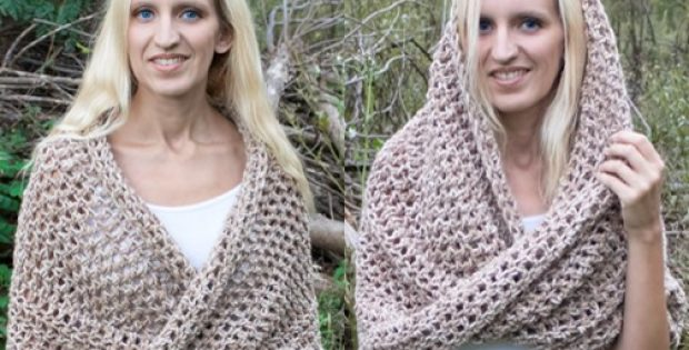 Mobius Crocheted Wrap And Cowl Free Pattern Video Tutorial