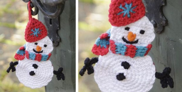 Olaf Crocheted Snowman For Christmas Free Crochet Pattern