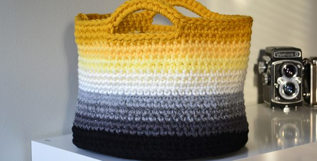 & Ombre Crocheted Storage Basket [FREE Crochet Pattern]