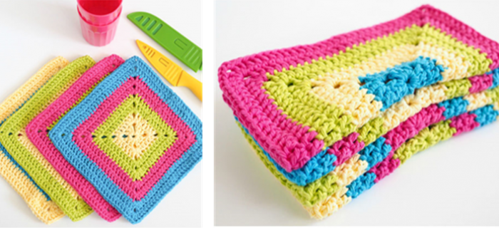 solid granny crocheted dishcloth | the crochet space