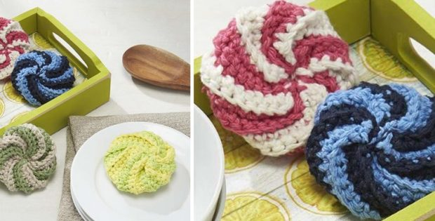 Fun Crocheted Spiral Scrubby Free Crochet Pattern