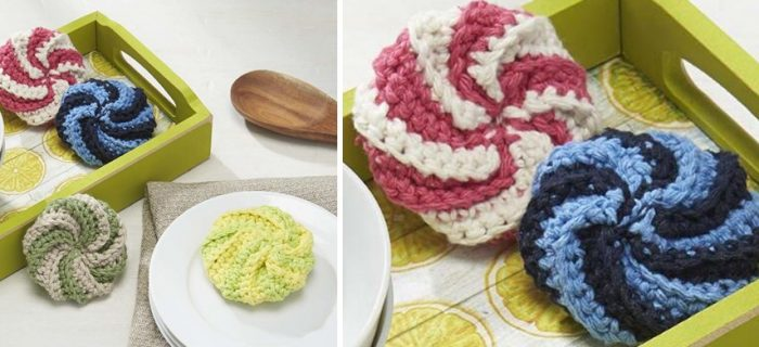 fun crocheted spiral scrubby | the crochet space