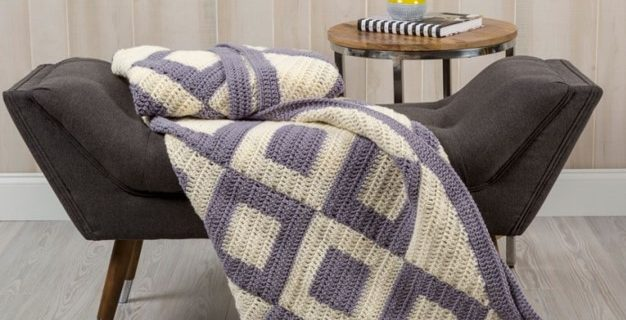 squares crocheted throw | the crochet space