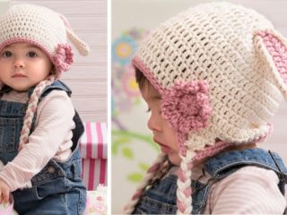 sweet crocheted bunny hat | the crochet space