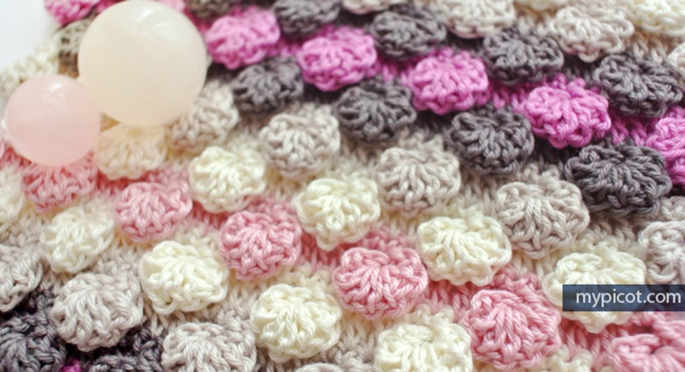 Textured Crocheted Bobble Shell Stitch Free Crochet Pattern