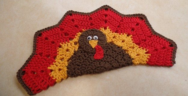 turkey crocheted place mat | the crochet space