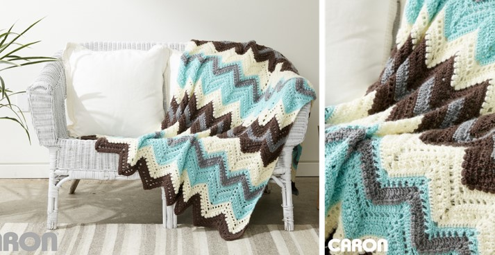 Wood Cabin crocheted afghan | the crochet space