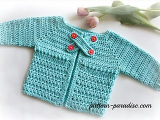 X stitch crocheted baby cardigan | the crochet space