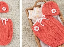 Just Peachie Crocheted Cocoon Set | the crochet space