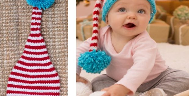 Cute Crocheted Baby Elf Hat Free Crochet Pattern
