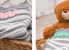 Personalized Crocheted Baby Blanket | the crochet space