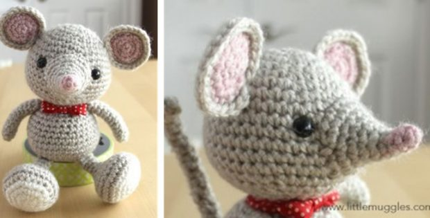 crocheted baby amigurumi mouse | the crochet space