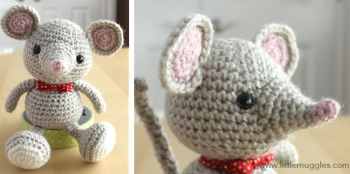 How to make a crochet mouse - free pattern - mallooknits.com | 351x706