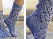 Blue Stars crocheted socks | the crochet space
