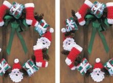 Merry Christmas Crocheted Wreath | the crochet space