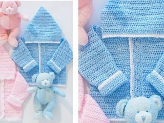 adorable crocheted baby's hoodie | the crochet space