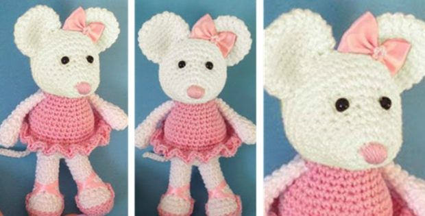Ballerina Crocheted Mouse [FREE Crochet Pattern]