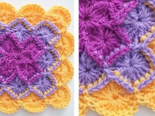 crocheted Bavarian square | the crochet space
