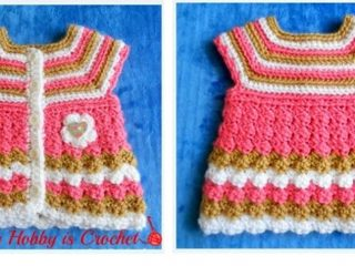 Bubbly Stripes crocheted baby cardigan | the crochet space