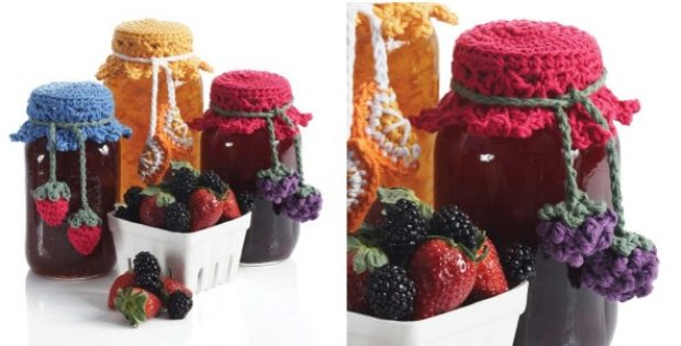 canning jar crocheted toppers | the crochet space