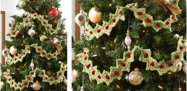 crocheted Christmas tree garland   the crochet space