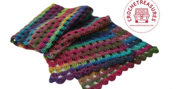 Dew Drops Crocheted Wrap Free Crochet Pattern