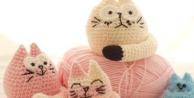 super cute crocheted fat cats | the crochet space