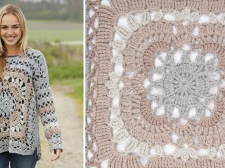 Harvest Love crocheted sweater | thecrochetspace.com