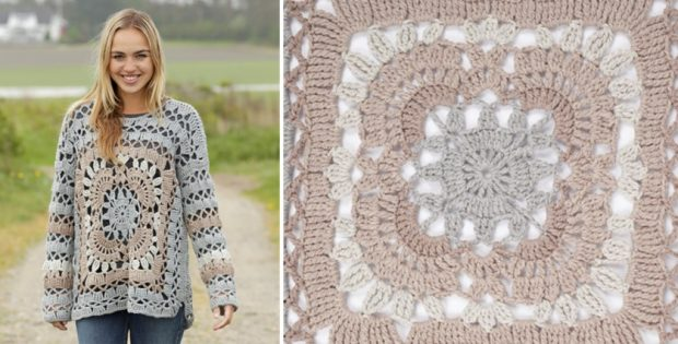 Harvest Love Crocheted Sweater [FREE Crochet Pattern]