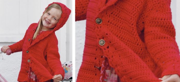 Little Red Riding Hood crocheted hoodie | the crochet space