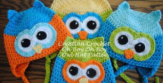 Oh Boy Oh Boy Crocheted Owl Hat Free Crochet Pattern