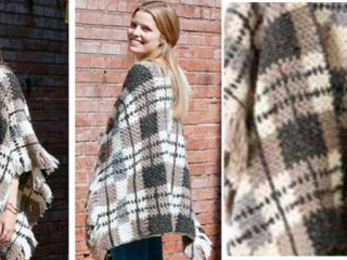 plaid blanket crocheted poncho | the crochet space