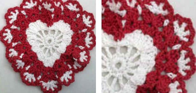 Sweetheart crocheted dishcloth | the crochet space