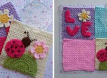 whimsical crocheted mini afghan squares | the crochet space
