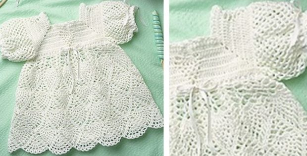 whipped cream crocheted dress | the crochet space