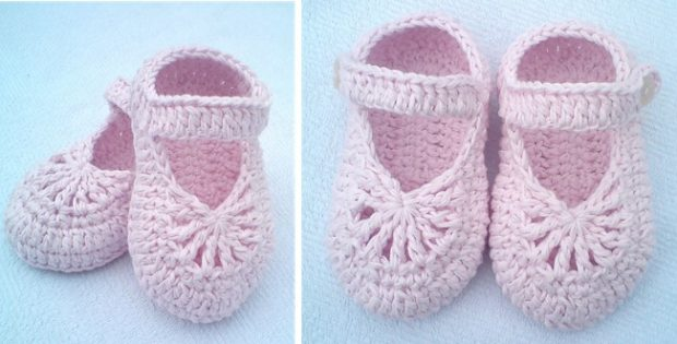 Yara Crocheted Baby Shoes Free Crochet Pattern