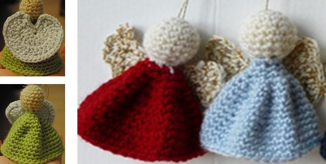 Crocheted Angel Ornaments   the crochet space