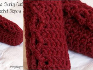 simple chunky cable crocheted slippers   the crochet space