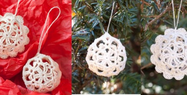Crocheted Lace Ornaments | the crochet space
