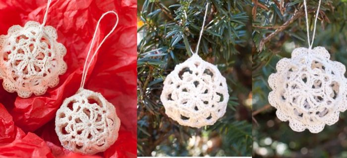 Crocheted Lace Ornaments   the crochet space