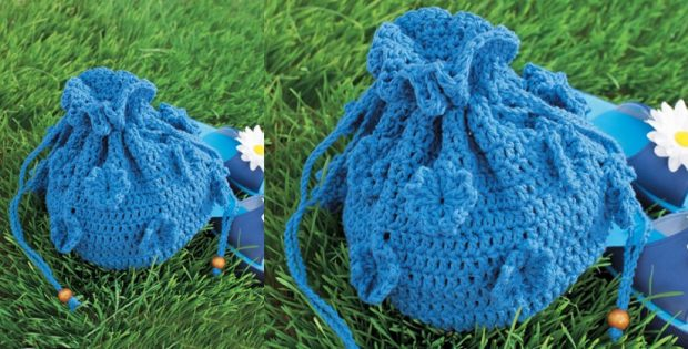 Crocheted Spring Bag | the crochet space