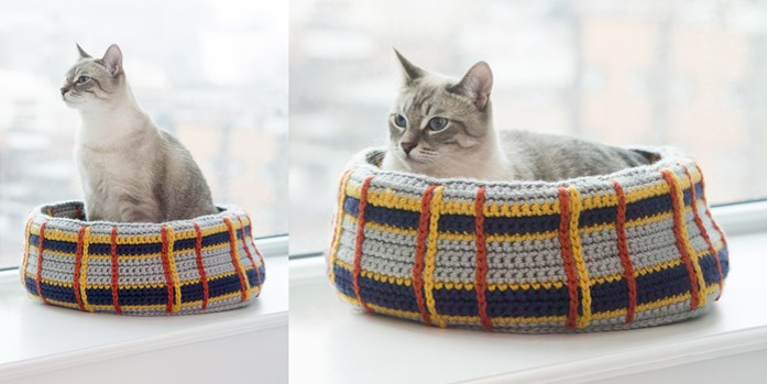 Cute and Cuddle Crochet Cat Cave | 349x697