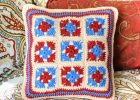 Stylish Crocheted Granny Pillow | the crochet space