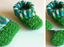 Galaxy Crocheted Baby Booties | the crochet space