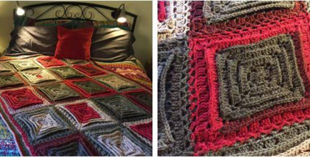 Hypnotic Tiles Crocheted Afghan | the crochet space