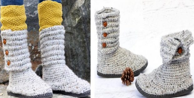 Crochet Sweater Boots With Flip Flop Soles Free Crochet Pattern